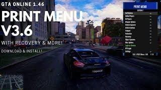 GTA V ONLINE 1.46 FREE Undetected + Recovery Mod Menu - Print Menu V3.6