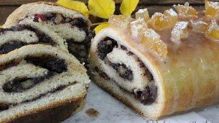 Cómo hacer Makowiec, rollo dulce polaco | Receta rollo dulce polaco