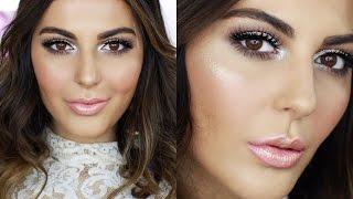 Pink Glitter NYE Makeup Tutorial + Hair | GRWM