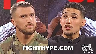 "TEOFIMO LOPEZ LOOKS LOMACHENKO DEAD IN THE EYE & ASKS ""WE GONNA DO THIS RIGHT NOW"""