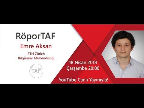 RöporTAF- Emre AKSAN/ ETH Zürich- Bilgisayar Mühendisliği