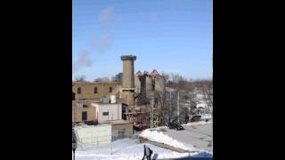 Demolition of the Coal Stack at Western Illinois University