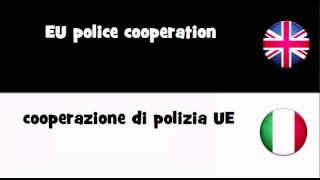 Say it in 20 languages # EU police cooperation