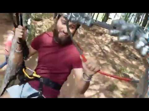 Zipline al Parco Avventura Monti Rossi Adventure Park - Nicolosi