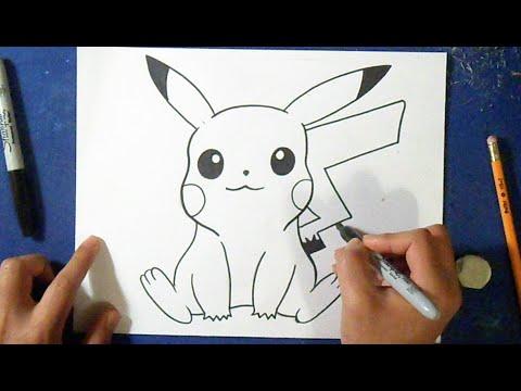 Cómo dibujar a Pikachu 4 | How to draw Pikachu - YouTube