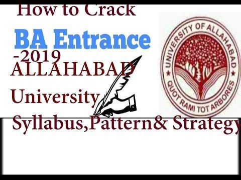 Crack Allahabad University  BA(Bachelor of Arts)Entrance-2019