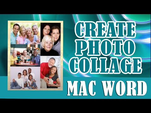 ms word photo collage template