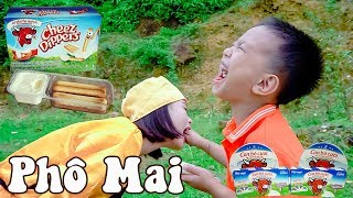 Trò Chơi Ăn Phô Mai Que Con Bò Cười ❤ BonBon TV ❤ Món Ngon Cho Bé