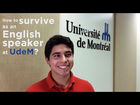 How to Survive as an English Speaker at UdeM?
