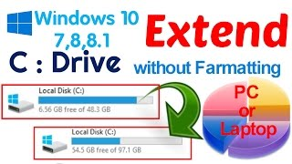 How to Extend Local C : Drive Without Formatting  PC or Laptop thumbnail