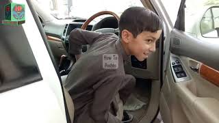 Child Drives Car Tz Prado  A Small Kid Driving a Real Car | Unexpected Driving