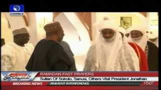 Sultan Of Sokoto, Sanusi,Others Visit President Jonathan