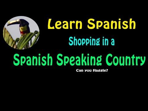 Learn Spanish-Shopping in a Spanish Speaking Country