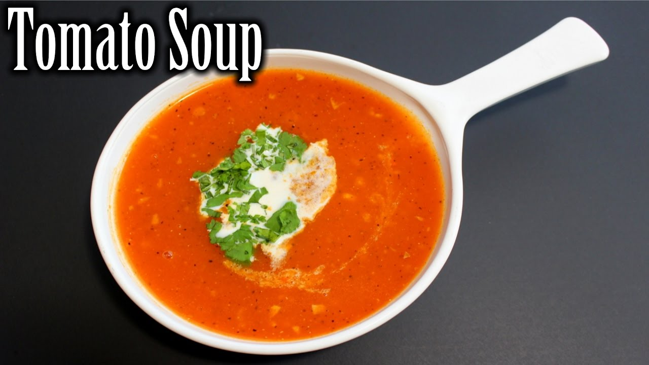 easy tomato soup recipe tomato garlic soup how to make tomato soup nehas cookhouse youtube. Black Bedroom Furniture Sets. Home Design Ideas
