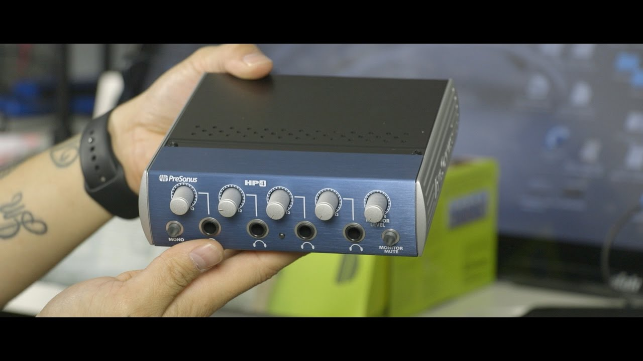 91a37b3078e Presonus HP4 - 4 Headphone Amp - YouTube
