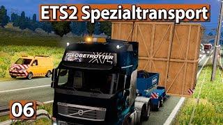 SPEZIALTRANSPORT 🚚 MEGA BOX, ENGE LEITPLANKEN ► #6 Euro Truck Special Transport DLC ETS2 deutsch