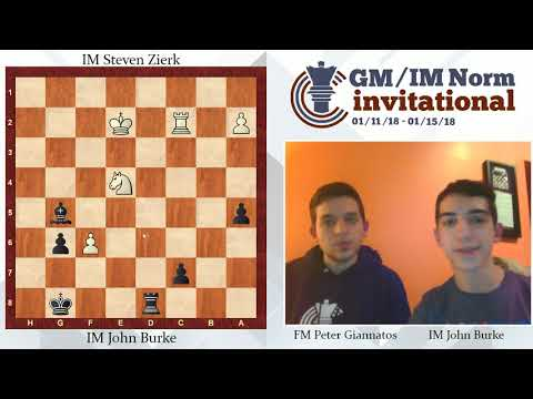 IM John Burke win over IM Steven Zierk in Critical Matchup