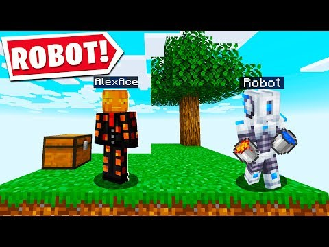 MINECRAFT SKYBLOCK BUT I HAVE A ROBOT..