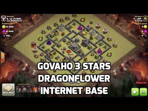 GoVaHo on Common Dragonflower Style Base | Mister Clash | Clash of Clans