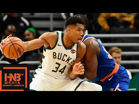 Milwaukee Bucks vs New York Knicks Full Game Highlights | 10.22.2018, NBA Season