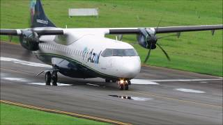 Pouso e Decolagem em Joinville - ATR 72-600 AZUL - (PR-AQN) 28/02/2019