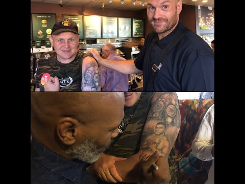Mike Tyson, Tyson Fury Autograph The Arm Of The Most Epic Boxing Tattoo You'll Ever See