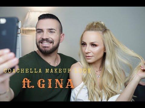 Κάνω στη Gina το ελληνικό festive makeup look ή αλλιώς greek-chella | Dimitris Stratos