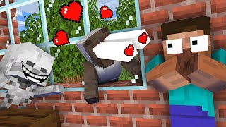 Monster School : HEROBRINE & GRANNY LOVE STORY Challenge - Minecraft Animation