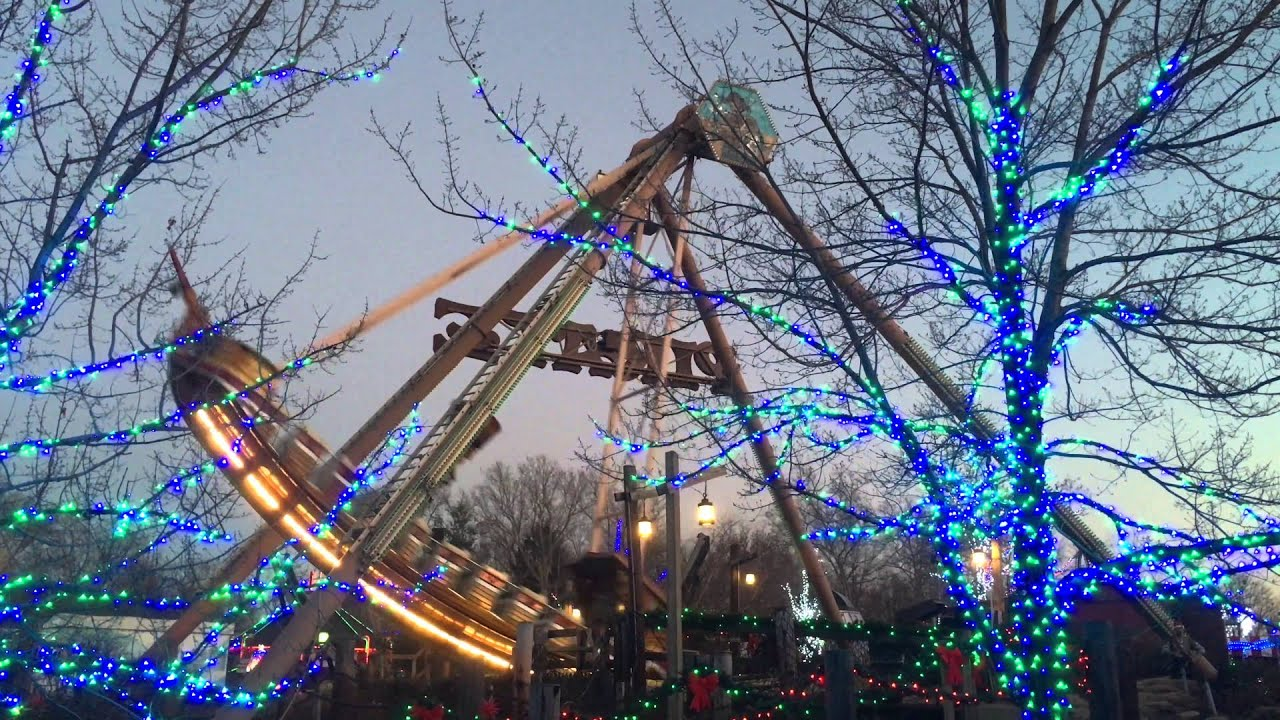 Kennywood Holiday Lights - Pirate 12/04/2015 - YouTube