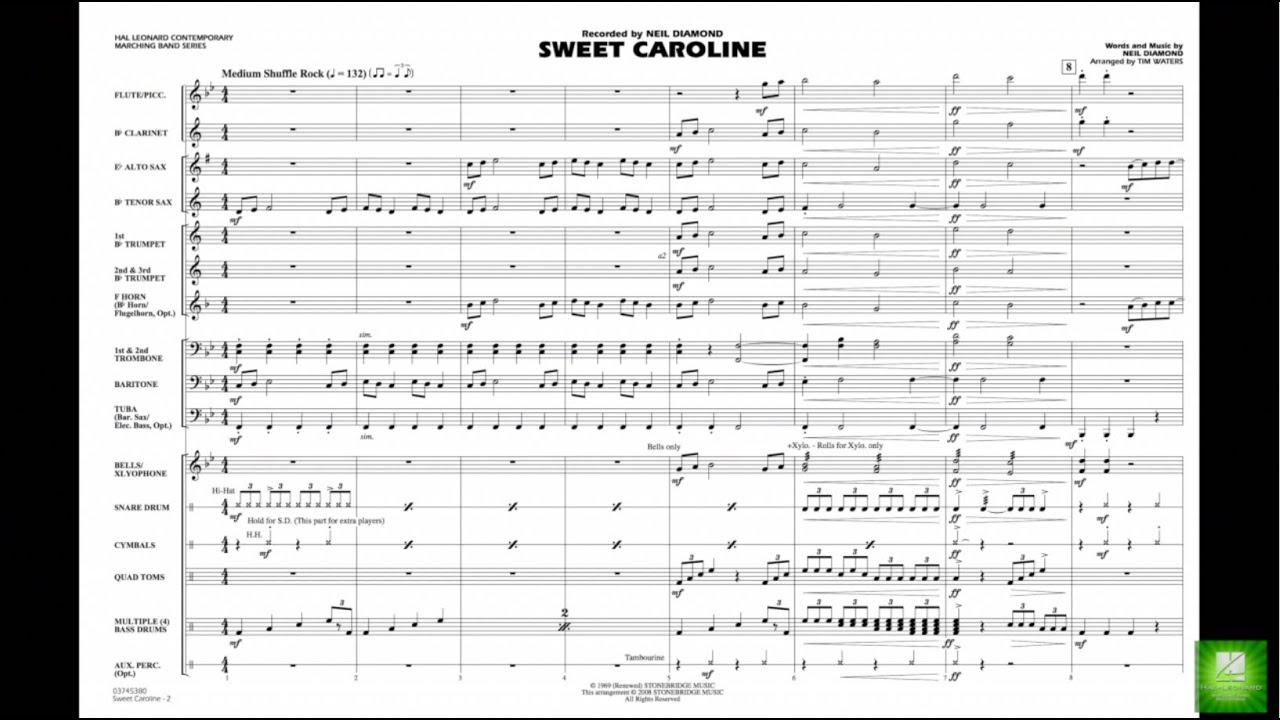 Sweet Caroline by Neil Diamond/arr. Tim Waters Chords ...