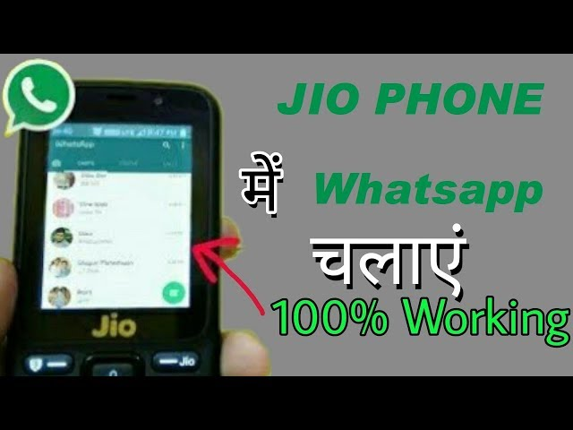 Jio Phone 4G Support Whatsapp, Facebook, Twitter and Youtube