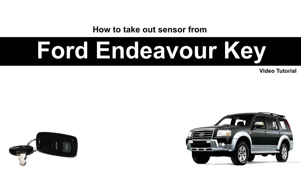 How To Take Out Chip From Ford Endeavour Key Youtube
