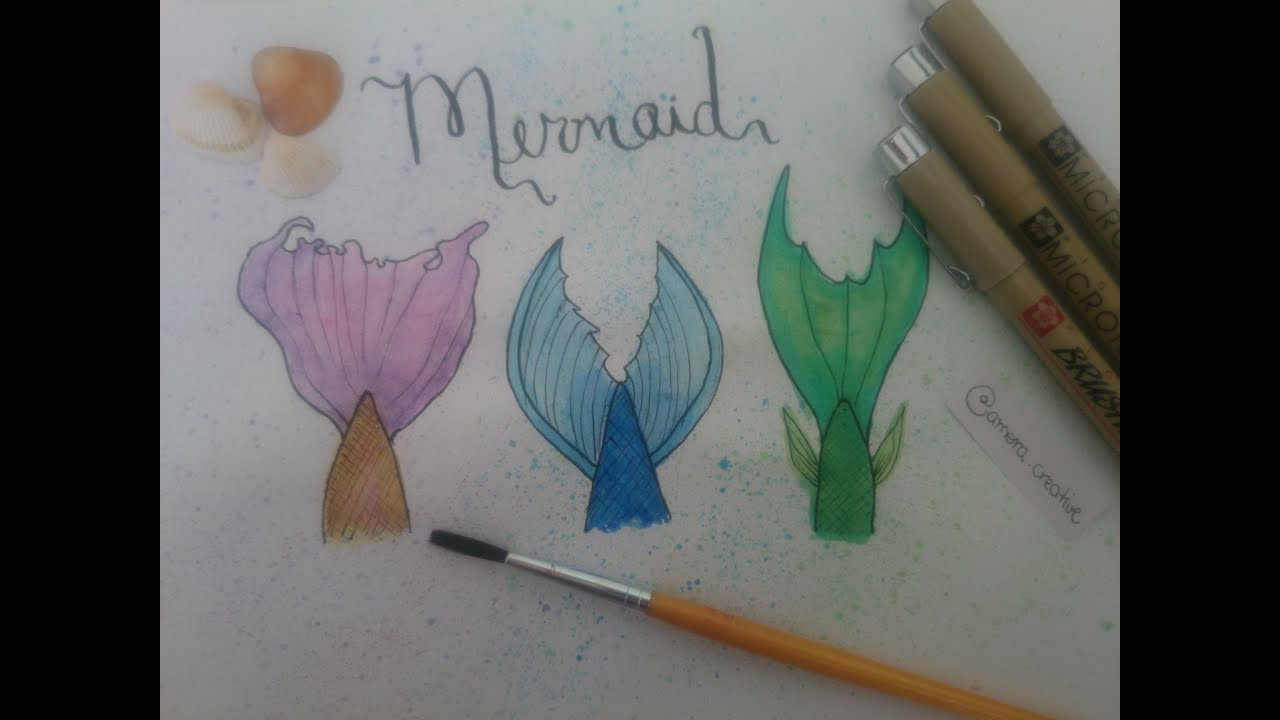 Como Desenhar Cauda De Sereia How To Draw Mermaid S Tail Youtube