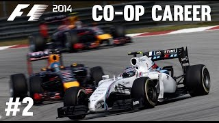 F1 2014 Co-op Career Mode Part 2 - Malaysian Grand Prix