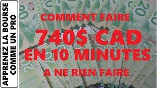 COMMENT FAIRE DE L'ARGENT RAPIDEMENT? 740$ EN 10 MINUTES LIVE! PRENEZ LE CONTRÔLE DE VOTRE VIE!