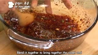 Korean food Stir Fried Whelk 295