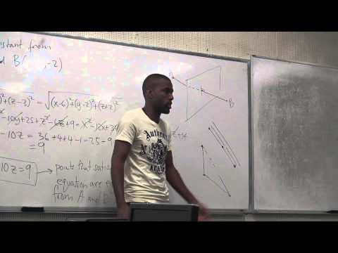 Math 203 Lecture 2 - Distances in 3D and Intro to vectors