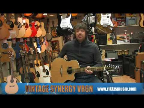 Vintage Synergy VR6 Electro Acoustic Guitar Review by Rikki's Music Shop, Edinburgh