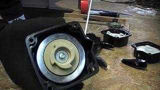 Как переделать мотокосу под стартер с плавным пуском