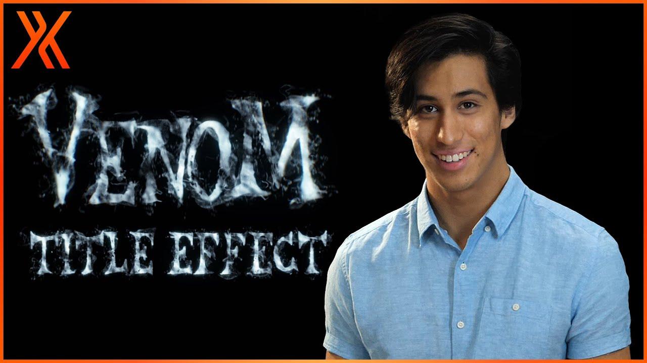 How to create the Venom title effect | HitFilm Tutorial