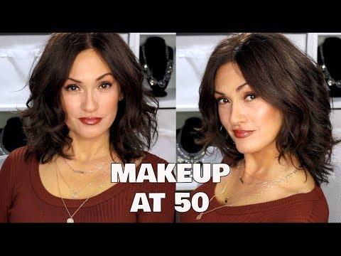 bronzy-makeup-brown-eyeliner-|-mature-skin-50