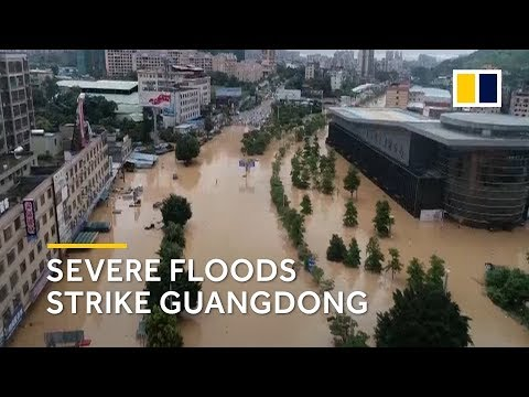 1.2 million people affected by severe flooding in China's Guangdong province
