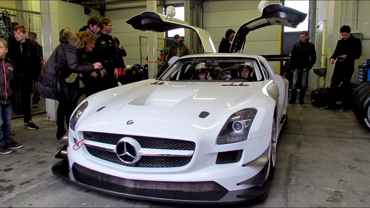 Mercedes-Benz SLS AMG GT3 racecar in the rain @ TT Circuit Assen ...