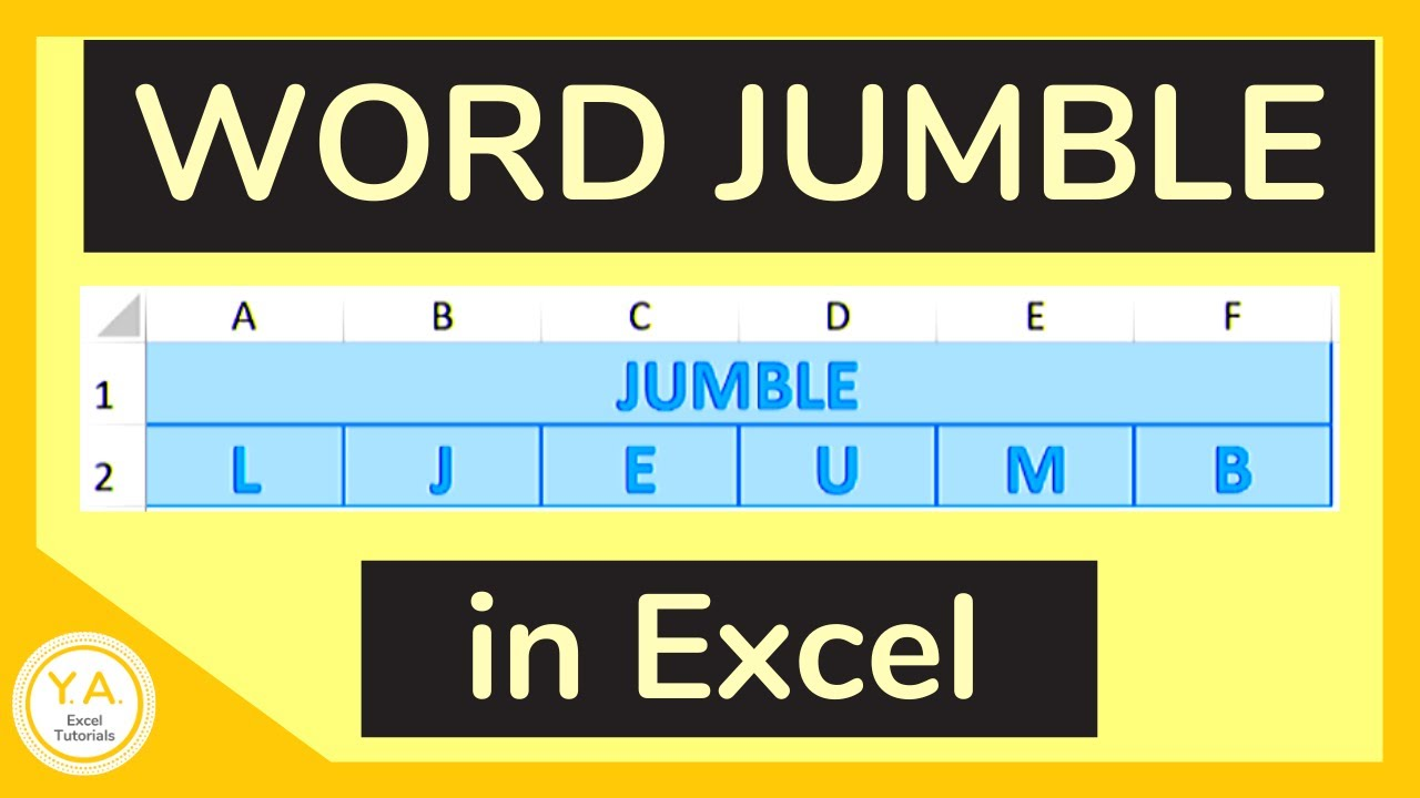 How to Create a Word Jumble in Excel / Make a Word Scramble in Excel -  Tutorial - YouTube [ 720 x 1280 Pixel ]