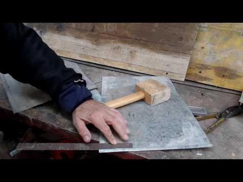 Как я изготовил из коротких отходов оцинковки длинную полосу металла