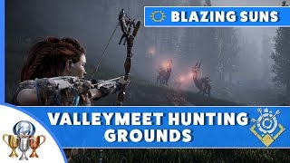 Horizon Zero Dawn Blazing Sun Trials Guide - Valleymeet Hunting Grounds (Fire, Shock and Freeze)