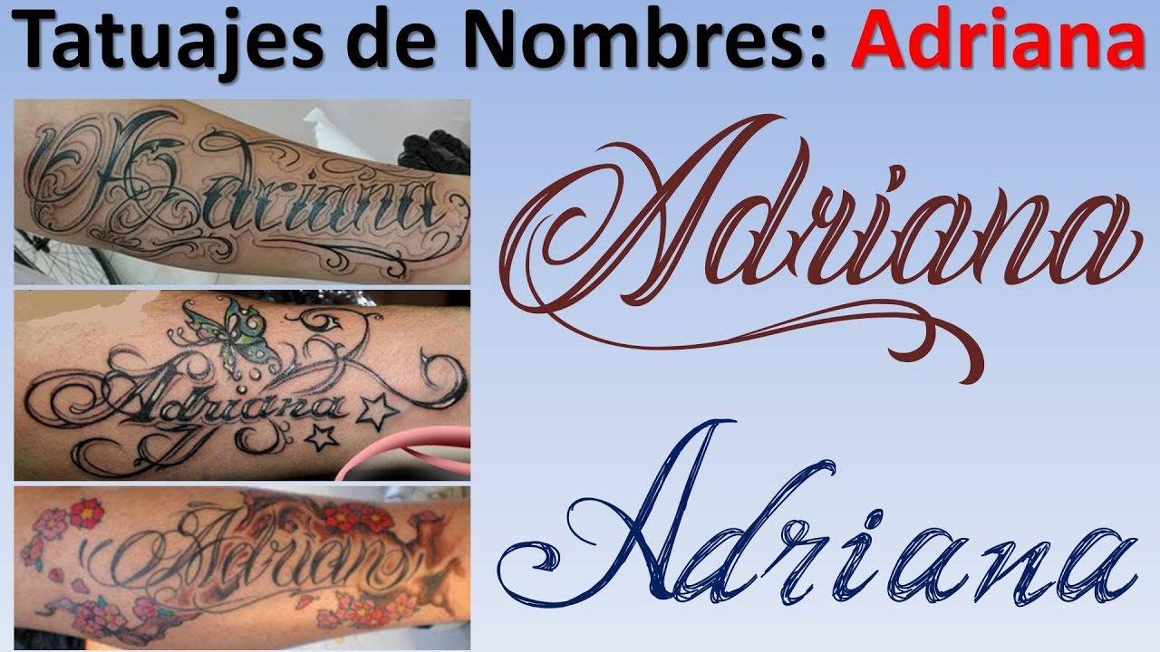 Tatuajes y Diseos con el nombres de Adriana YouTube