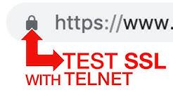 How to test HTTPS SSL Websites with Telnet