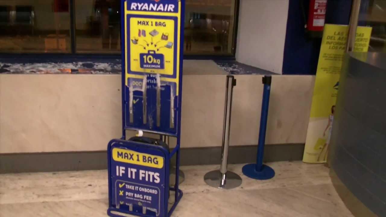 Nos vemos Colonial Supresión  Maleta de cabina Ryanair mod 794 - YouTube