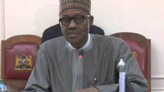 Watch President Muhammadu Buhari Holding Talks With Uhuru Kenyatta